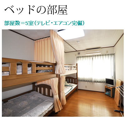 ベッドの部屋